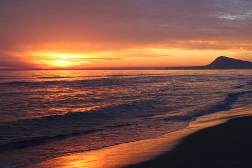 tranquil  reflection  orange