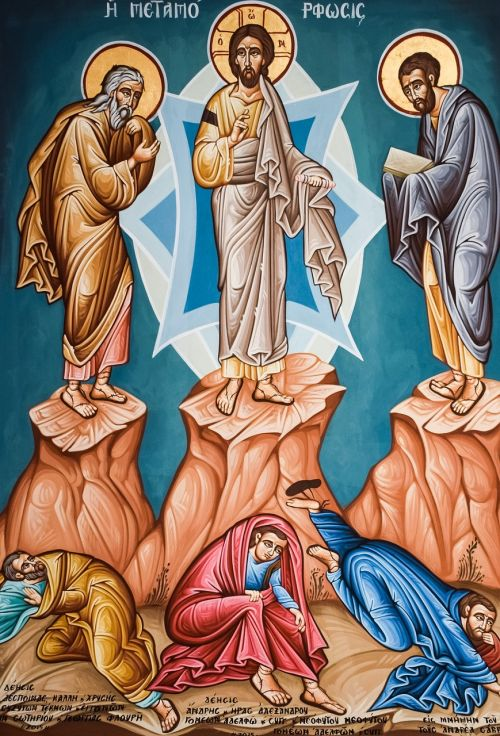transfiguration of christ iconography painting