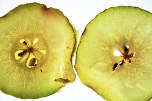 Translucent Pear Slices