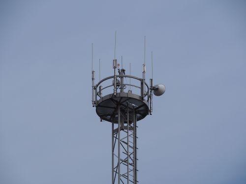 transmission tower radio station mobile phone mast