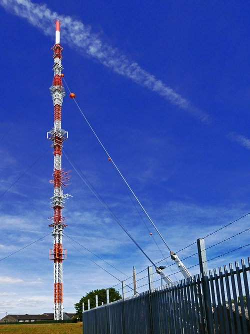 transmission tower  radio mast  transmitter