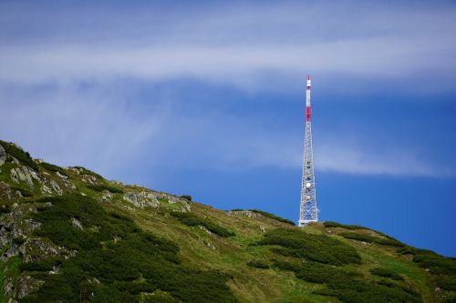 transmission tower send mountain