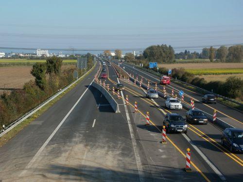 transport roadworks autobahn