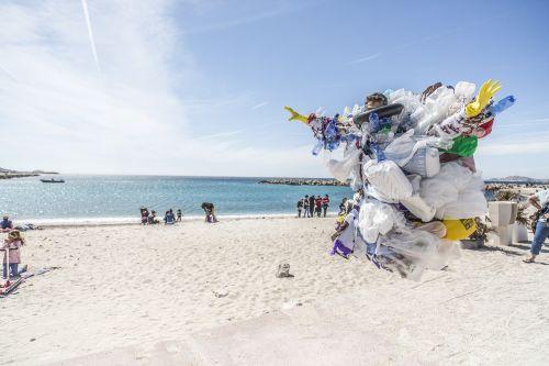 trash waste beach