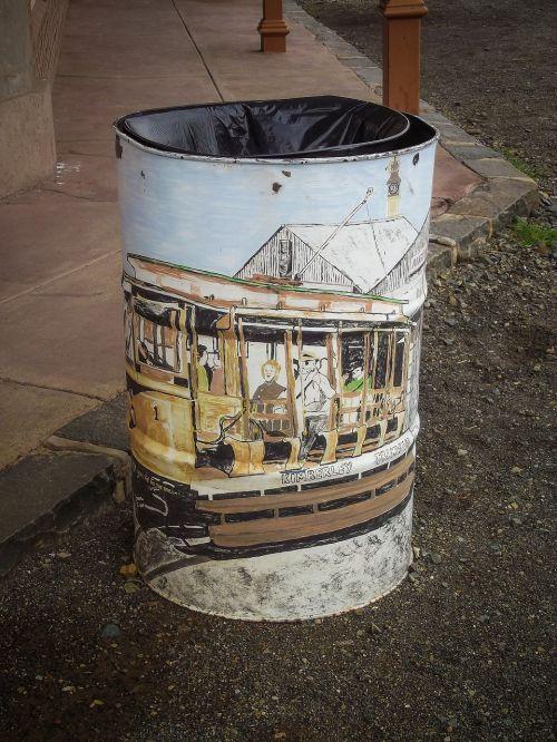 trash bin waste
