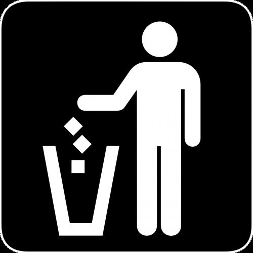 trash can person