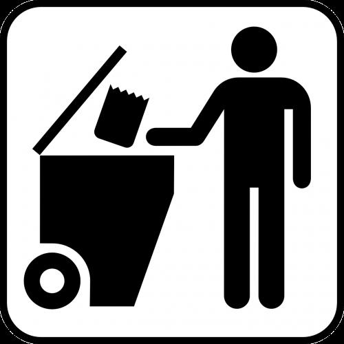 trash waste trashcan
