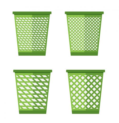 trash bin recycle en