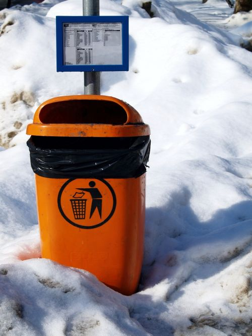 trash can recycle rubbish