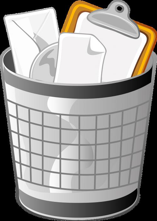 trash can wastebasket receptical