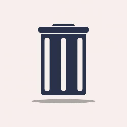 trashcan basket icon