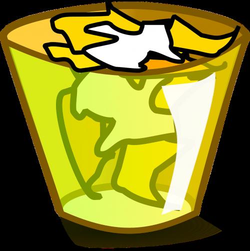 trashcan trash garbage