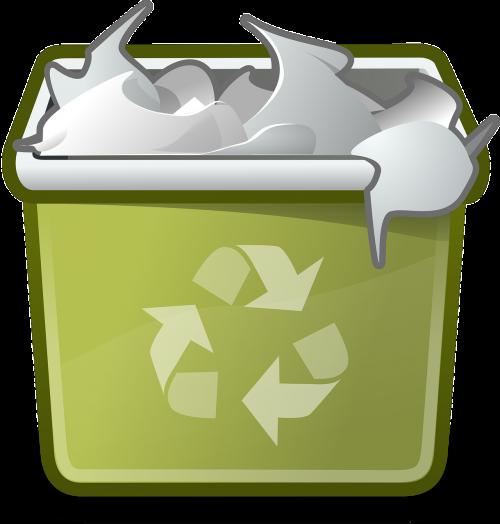 trashcan full garbage