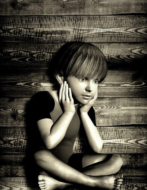 Sad Child - Portrait