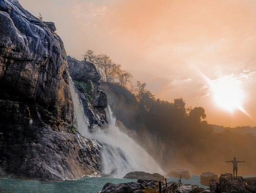 travel  waterfall  sky