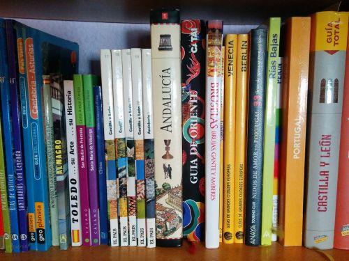 travel books shelving