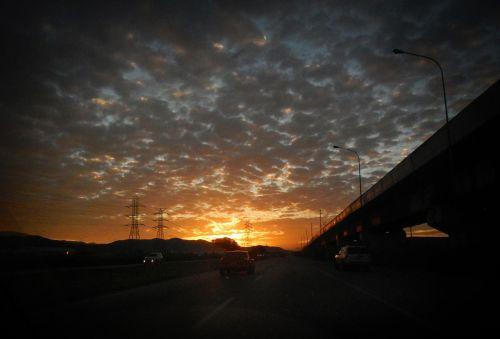 traveling dawn path