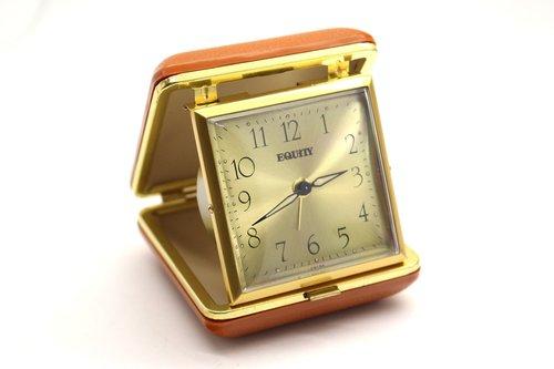 traveling alarm clock  clock  watch
