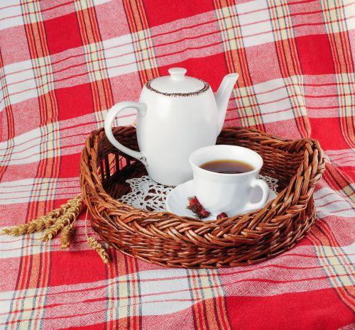 tray tea mug