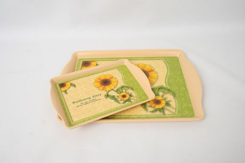 tray sunflower serving
