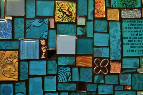 Tray Of Mosaic In Blue