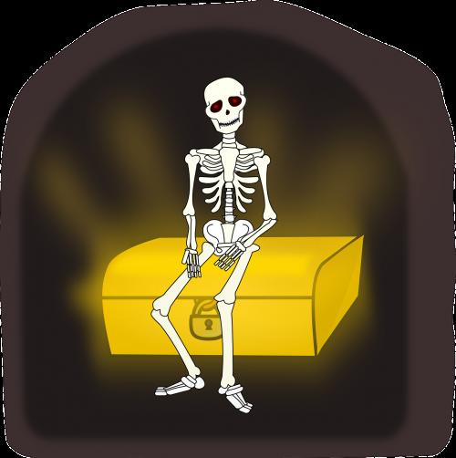treasure skeleton death