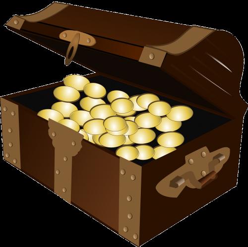 treasure treasure chest gold
