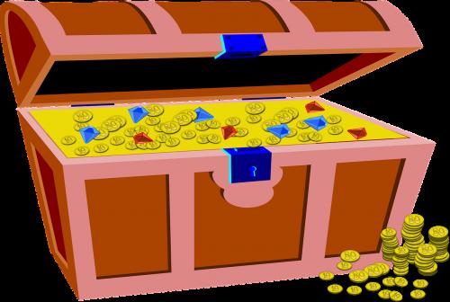 treasure box gold