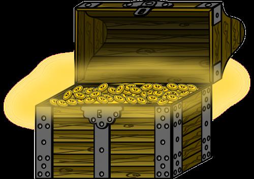 treasure chest chest coins