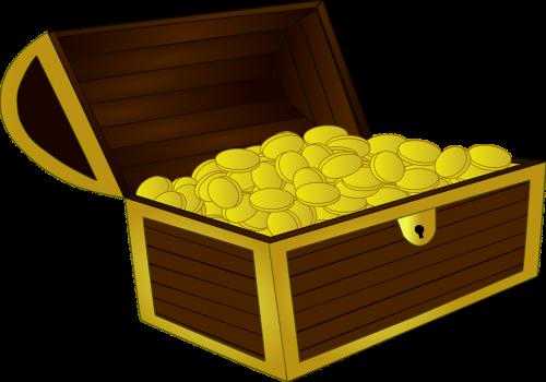 treasure chest treasure gold