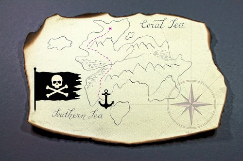 treasure map  island  map