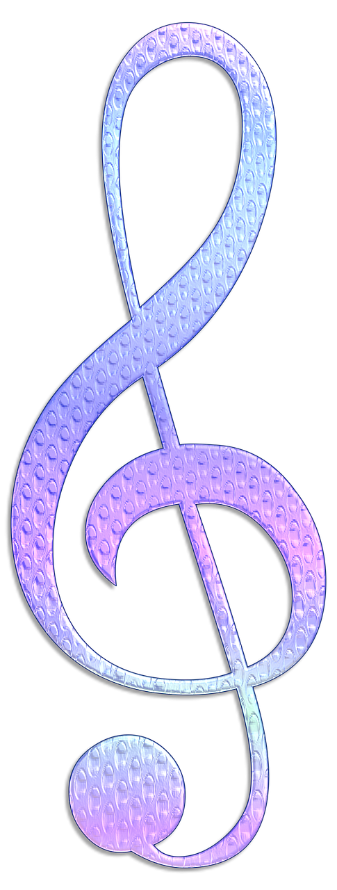 treble clef embellishment scrappbooking