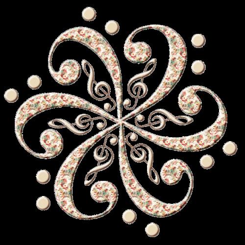 treble clef music decorative