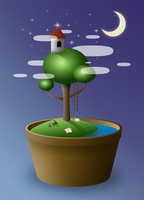 tree bonsai vase