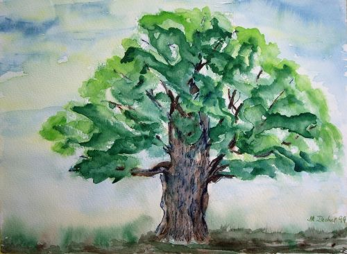 tree painting image