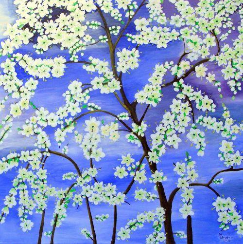 tree flowers painting