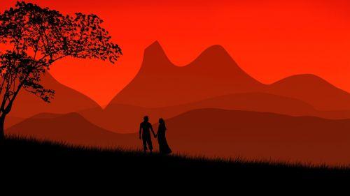 tree couple man