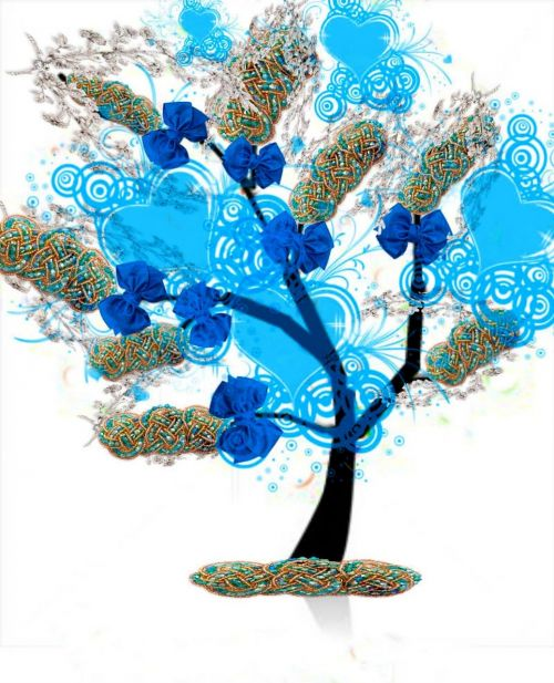 tree ties blue