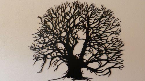 tree aesthetic scheerenschnit