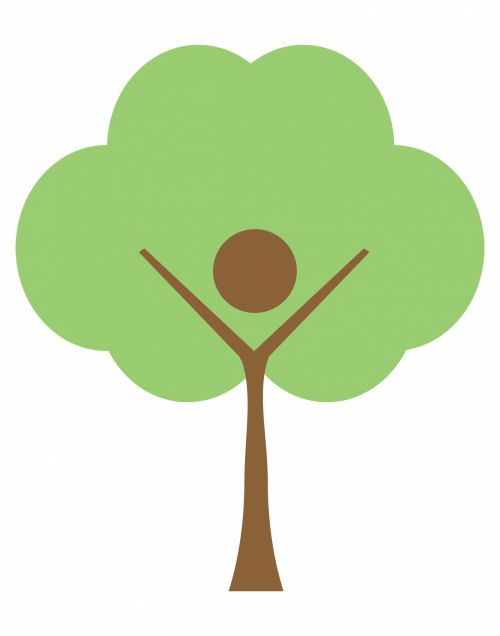 medis, logotipas, menas, iliustracija, žmogus, žmogus & nbsp, medis, verslas, Laisvas, viešasis & nbsp, domenas, medžio logotipo iliustracija