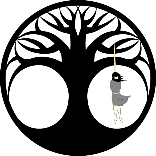 tree of death silhouette black