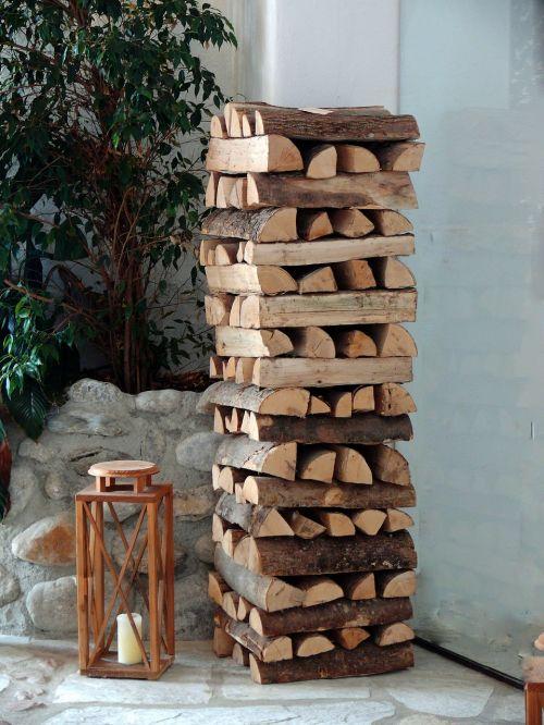 trees brown firewood