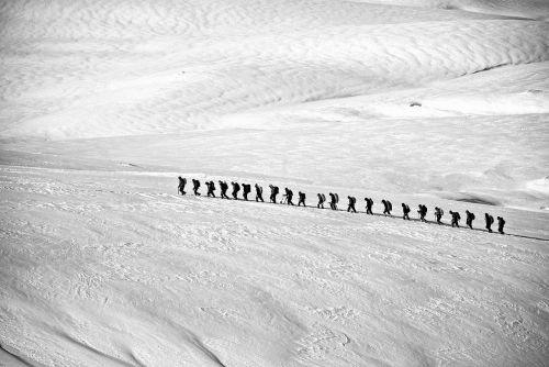 trekking hiking group