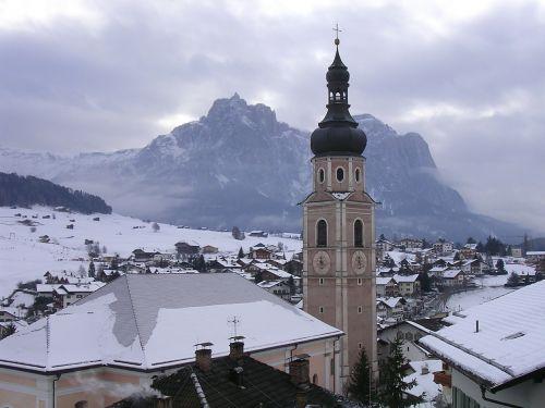 trentino campanile snow