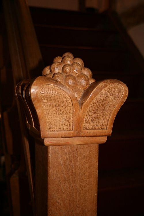 treppengeländer stair doorknob carved