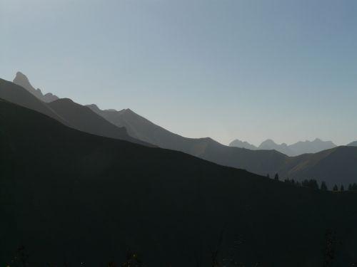trettachspitze mountains mountain panorama