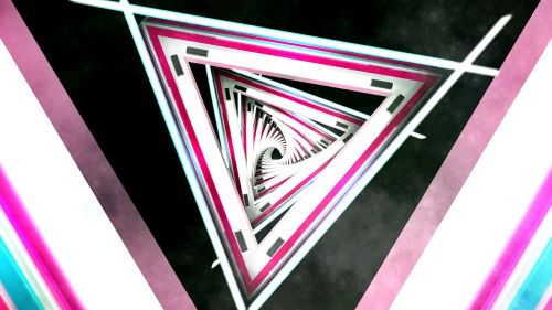 triangle abstract tunnel