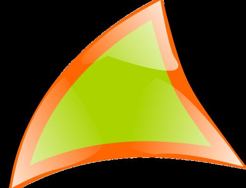 triangle warped border