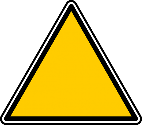 triangle signs symbols