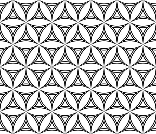 triangle curved pattern